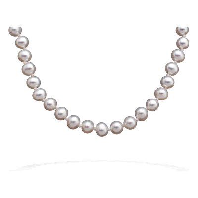 Collier perle-or blanc
